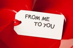 与文本的礼物标记 免版税库存图片