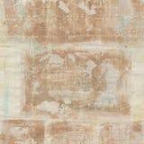 与文本的葡萄酒脏的古色古香的布朗拼贴画水彩背景 库存图片