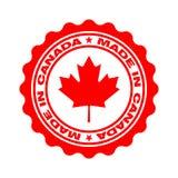 与文本的邮票加拿大制造 库存例证