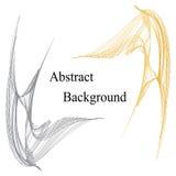 与文本的金黄和银色镶边曲线在中心 抽象背景 标签的,横幅,徽章,海报模板 库存图片