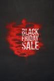 与文本的黑星期五销售横幅在背景 库存照片