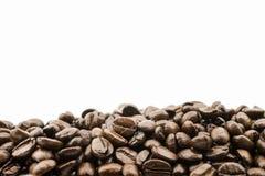 与文本空间的咖啡豆 库存照片