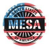 与文本美利坚合众国, Mesa的难看的东西不加考虑表赞同的人 库存例证
