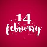 与文本2月14日的情人节背景 免版税库存图片