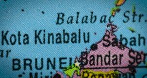 与文莱国家地区地图的地球 股票录像