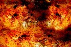 与斑点的抽象背景在灼烧的火口气  免版税图库摄影