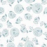 与斑点的简单的花卉无缝的样式,花背景,传染媒介 免版税库存图片