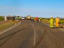 与断裂标记的事故在皮尔巴拉,澳大利亚西部 免版税图库摄影