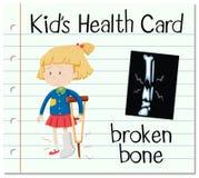 与断骨头的保健卡 向量例证