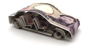 与新的日元的汽车财务 向量例证