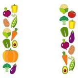 与新鲜的有机菜的健康饮食例证 库存照片