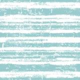 与新鲜的蓝色条纹的无缝的样式 向量例证