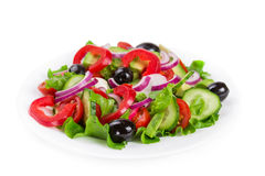 与新鲜蔬菜的沙拉 图库摄影