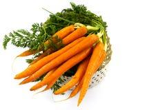 与新鲜蔬菜的被隔绝的篮子 库存图片