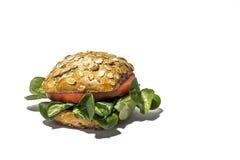 与新鲜蔬菜的素食主义者汉堡 查出 免版税图库摄影