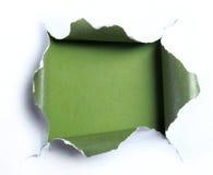 与方形的形状的白色被撕毁的纸 免版税库存图片