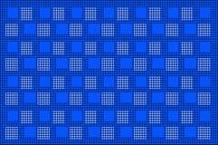 与方形的样式的黑滤网在蓝色背景 图库摄影