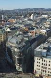 与旅馆维也纳的地平线 库存图片
