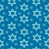 与旗子和旗布的愉快的以色列美国独立日无缝的样式 犹太假日不尽的背景,纹理 皇族释放例证