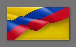 与旗子的哥伦比亚的爱国欢乐横幅 免版税库存照片