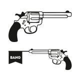 与旗子的左轮手枪 免版税库存照片