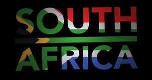与旗子的迅速移动的文本南非 向量例证