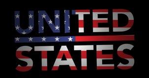 与旗子的迅速移动的文本美国 向量例证