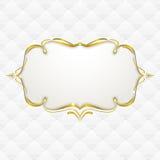 与无缝的室内装潢纹理的金框架 库存图片