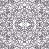 与无缝的禅宗乱画样式黑色的抽象背景在白色 图库摄影