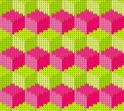 与无缝的被编织的纹理的抽象样式 库存照片