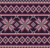 与无缝的被编织的纹理的抽象样式 免版税库存图片