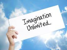 与无限文本的想象力的纸 库存照片