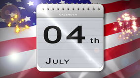 与日历介绍的独立日蒙太奇 股票视频