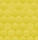 与日本传统设计的六角形无缝的样式 免版税库存照片