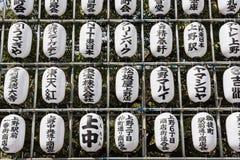 与日本题字的艺术品 库存照片