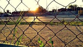 与日落的下午 图库摄影