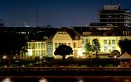 与日落的微明在历史的宫殿Wang轰隆Khun 免版税库存图片