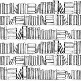 与旧书的无缝的patterh 免版税库存照片