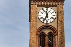 与时钟的塔细节 图库摄影