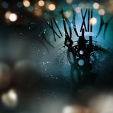 与时钟的新年静物画 免版税库存图片