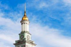 与时钟的老塔在Kyiv 免版税库存图片