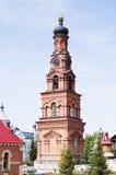 与时钟的钟楼,慈悲西梅昂三位一体女修道院  库存照片