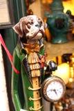 与时钟罗马-意大利的狗 库存图片