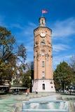 与时钟,文尼察,乌克兰的老了望塔 图库摄影