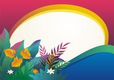 与时髦的抽象设计的自然热带背景 皇族释放例证