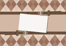与时髦的装饰品的卡片 免版税库存照片