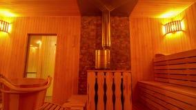 与时髦的interior_4的大私有蒸汽浴 影视素材