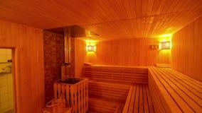 与时髦的interior_5的大私有蒸汽浴 股票录像