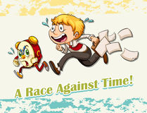 与时间的成语赛跑 库存例证