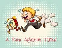与时间的成语赛跑 皇族释放例证